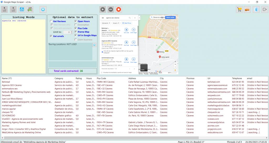 Captura Google Maps Scraper